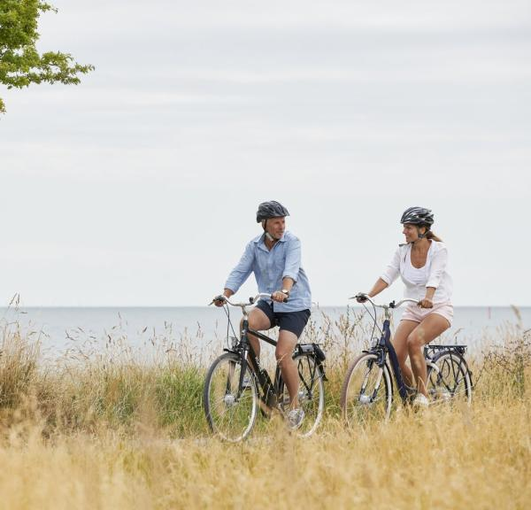Couple on bikes, Nysted, Denmark