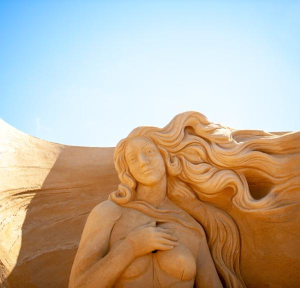 Sand sculpture at the annual Hundested Sand Sculpture Festival