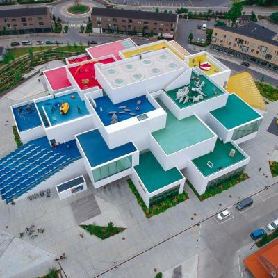 LEGO House in Billund, Denmark, seen from above