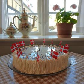A Danish birthday cake
